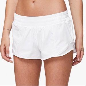 White Lululemon Hotty Hot Shorts